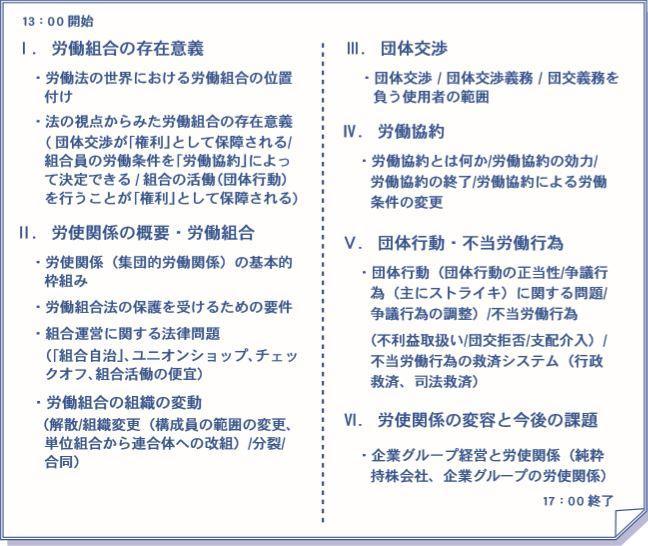 オンラインLIVEご希望の方用】労働組合法入門講座 | 研修・セミナー ...